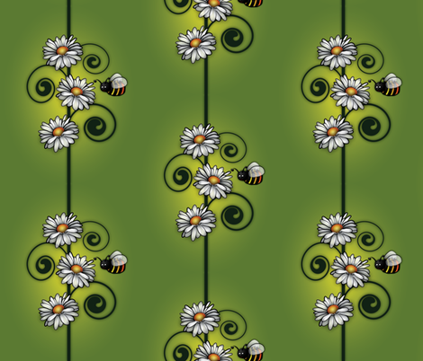 Bee happy in the garden! fabric by quistig on Spoonflower - custom fabric