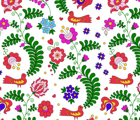 Dreamgarden fabric by andrea11 on Spoonflower - custom fabric