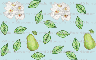 pears and blossoms