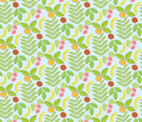 bugs in my garden fabric by jordan_elise on Spoonflower - custom fabric