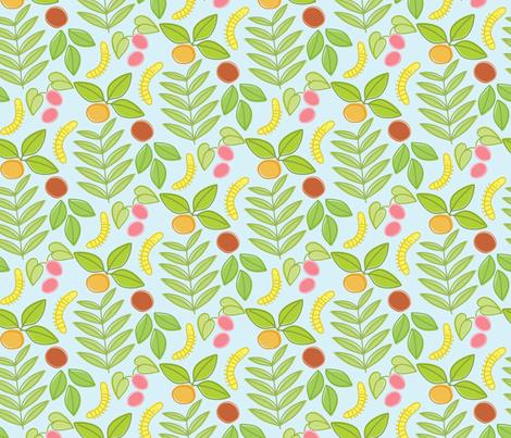 bugs in my garden fabric by jordan_elise on Spoonflower - custom fabric