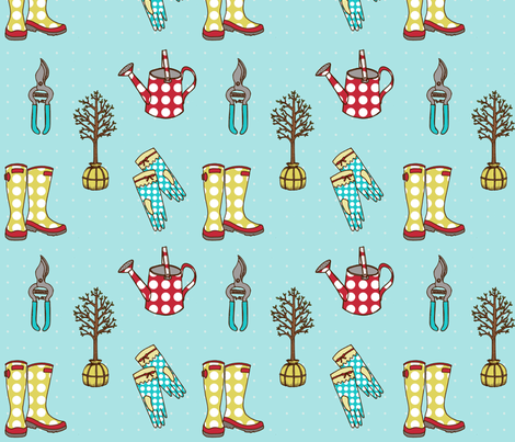 Make it Grow fabric by mytinystar on Spoonflower - custom fabric