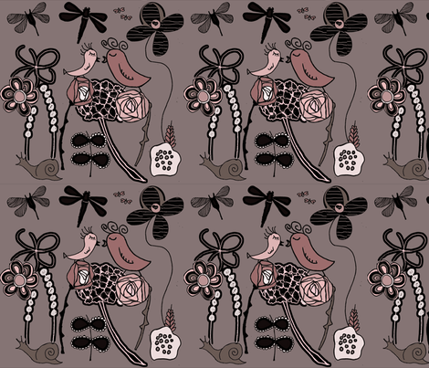 Garden of Love fabric by sbd on Spoonflower - custom fabric