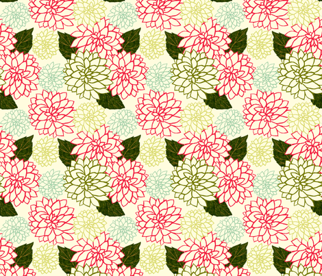 Dahlia_Variety_Lightened fabric by cksstudio80 on Spoonflower - custom fabric