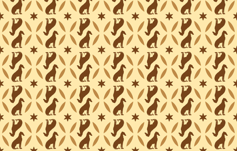 Golden Brown Greyhounds GG4   ©2010 by Jane Walker  ©2010 by Jane Walker fabric by artbyjanewalker on Spoonflower - custom fabric