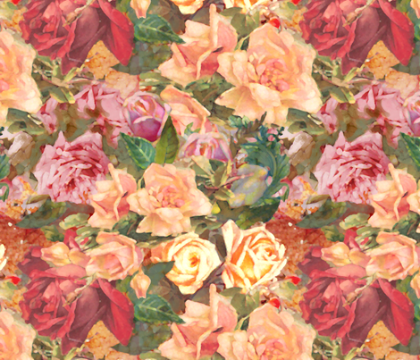 Tumbling Roses fabric by dentednj on Spoonflower - custom fabric