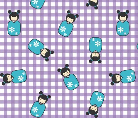 kokeshi fabric by craftosia on Spoonflower - custom fabric