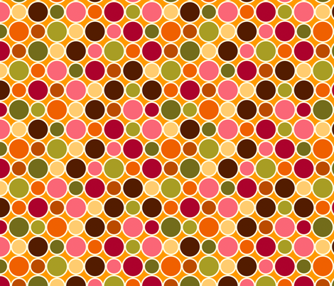 Summer Dots Juicy fabric by cyoungquist on Spoonflower - custom fabric