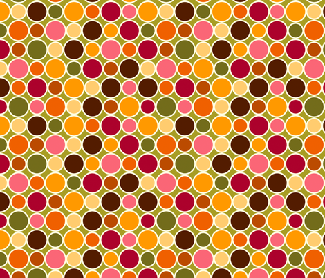 Summer Dots Picnic fabric by cyoungquist on Spoonflower - custom fabric