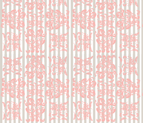 striped damask fabric by thehandmadehome on Spoonflower - custom fabric