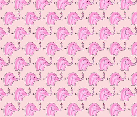 Pink Elephants fabric by toni_elaine on Spoonflower - custom fabric