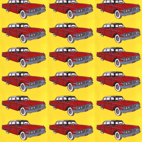 1960 Edsel Ranger 2 door sedan In red fabric by edsel2084 on Spoonflower - custom fabric