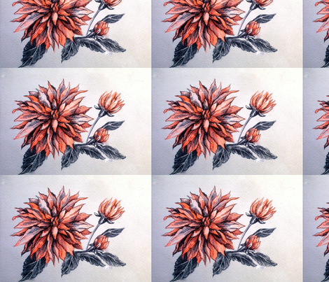 card__orange_flower fabric by yarrow4 on Spoonflower - custom fabric