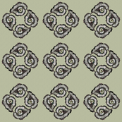spiral leaf tile