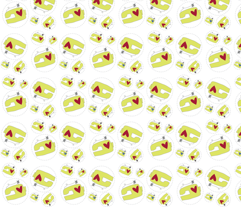 Machine Shuffle fabric by moxywares on Spoonflower - custom fabric