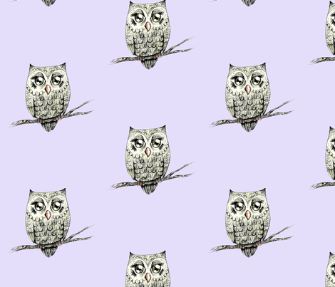 Owl Love fabric by taraput on Spoonflower - custom fabric