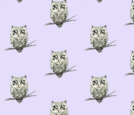 Owl Love fabric by taraput on Spoonflower - custom fabric