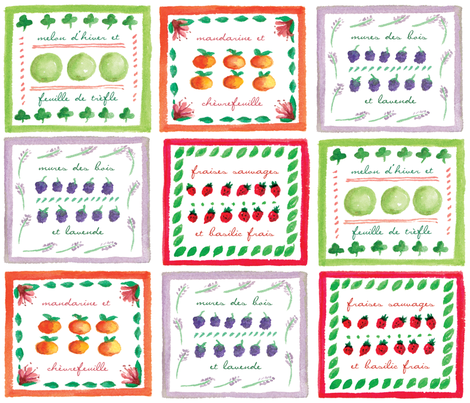 Fruits de Provence fabric by snowflower on Spoonflower - custom fabric