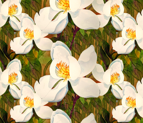 Magnolia Spring fabric by helenklebesadel on Spoonflower - custom fabric