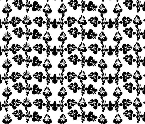 black and white art nouveau design no. 01 fabric by eva_krasilni_razbor on Spoonflower - custom fabric