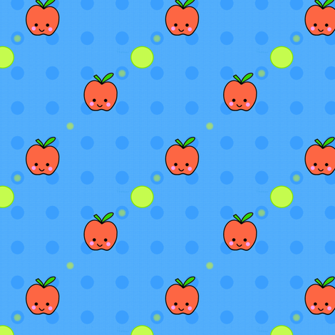 Apples! - Hawaii Kawaii Sweet Fruits - © PinkSodaPop 4ComputerHeaven.com  fabric by pinksodapop on Spoonflower - custom fabric