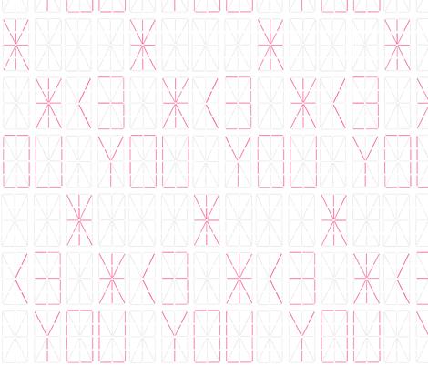 <3 You Digital Display Board fabric by dorolimited on Spoonflower - custom fabric