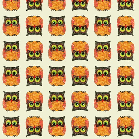 small scrummy owls fabric by scrummy on Spoonflower - custom fabric