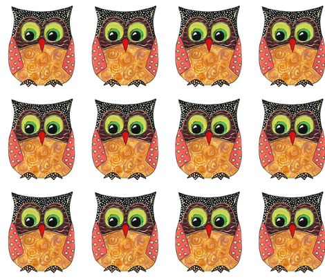 scrummy owl fabric by scrummy on Spoonflower - custom fabric