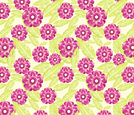 Hawaiian Tropical Garden fabric by pinksodapop on Spoonflower - custom fabric
