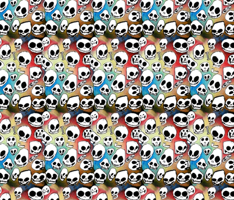 rainbow_skulls fabric by garmonsway_designs on Spoonflower - custom fabric