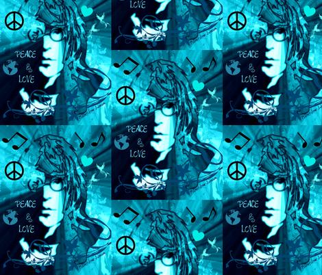 WORLD PEACE & LOVE fabric by paragonstudios on Spoonflower - custom fabric