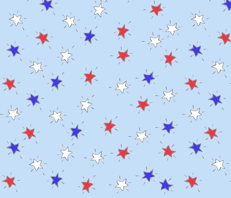 stars fabric by 5u5an on Spoonflower - custom fabric
