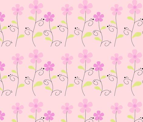 Garden Sweetness! - Pink -  © PinkSodaPop 4ComputerHeaven.com fabric by pinksodapop on Spoonflower - custom fabric