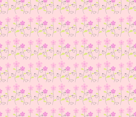 Garden Sweetness! - Pink -  © PinkSodaPop 4ComputerHeaven.com fabric by pinksodapop on Spoonflower - custom fabric