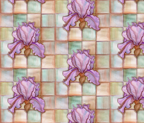 Iris Watercolor fabric by gretchenlittle on Spoonflower - custom fabric