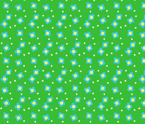 Spring Has Sprung-- Blossom Field fabric by winter on Spoonflower - custom fabric