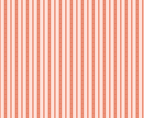 Button Blooms-- Light Pink Stripes fabric by winter on Spoonflower - custom fabric
