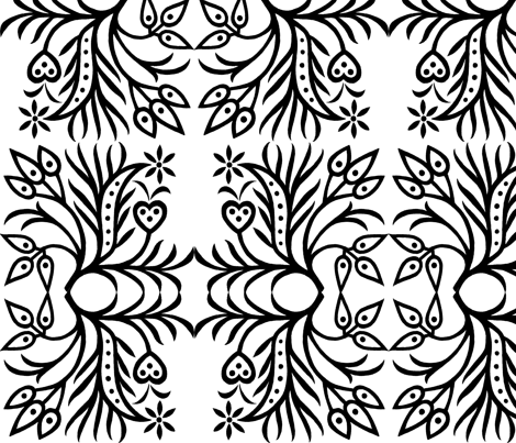 black and white no. 03 fabric by eva_krasilni_razbor on Spoonflower - custom fabric