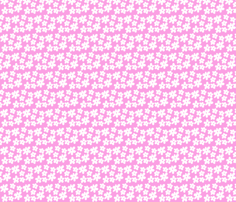 Bright Pink Flowers fabric by toni_elaine on Spoonflower - custom fabric