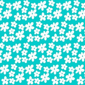 Aqua Flowers - Take note, I have decreased the size of the flowers to be a small pattern.
