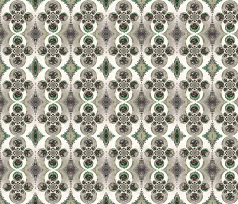 red_flower_circles-ch fabric by yarrow4 on Spoonflower - custom fabric