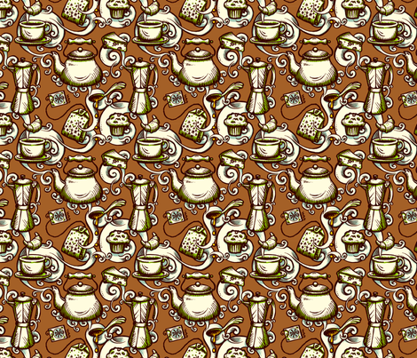 Chocolate breakfast fabric by raul on Spoonflower - custom fabric