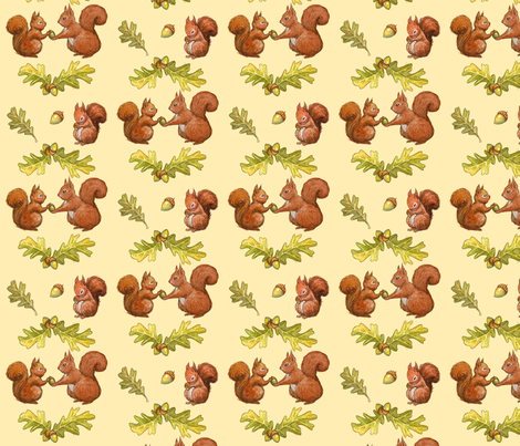 squirrels fabric by sandras on Spoonflower - custom fabric