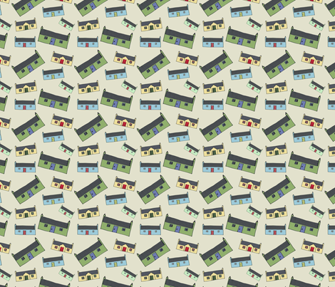 Croft_House_New_Design_Pattern_small fabric by phatsheepfabrics on Spoonflower - custom fabric