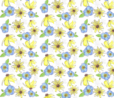 Watercolor Floral fabric by jadegordon on Spoonflower - custom fabric