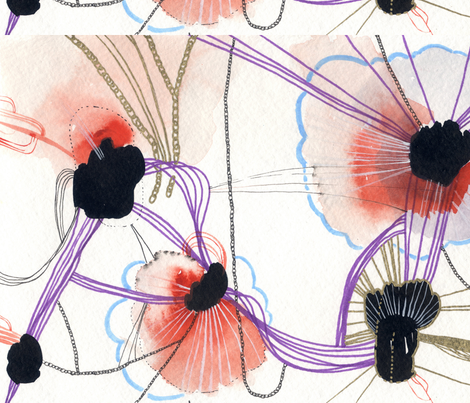 Chrysanthemum fabric by callen on Spoonflower - custom fabric