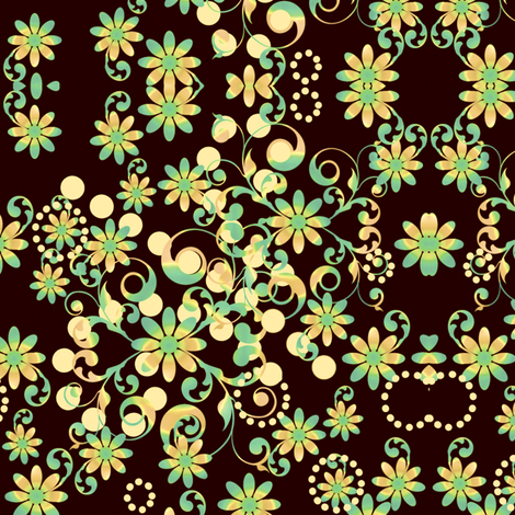 Mystic Flower Garden -  © PinkSodaPop 4ComputerHeaven.com fabric by pinksodapop on Spoonflower - custom fabric