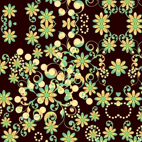 Mystic Flower Garden -  © PinkSodaPop 4ComputerHeaven.com fabric by pinksodapop on Spoonflower - custom fabric