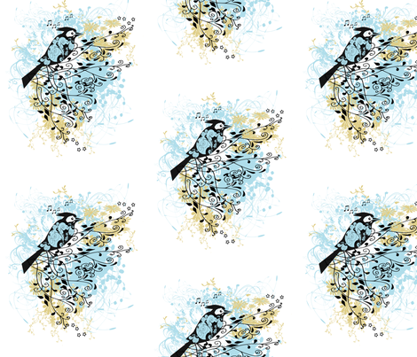 Perched on High fabric by kristenstein on Spoonflower - custom fabric