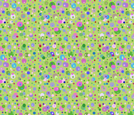 Francine La Froggie Bubble Dots by Rosanna Hope for Babybonbons fabric by rosannahope on Spoonflower - custom fabric